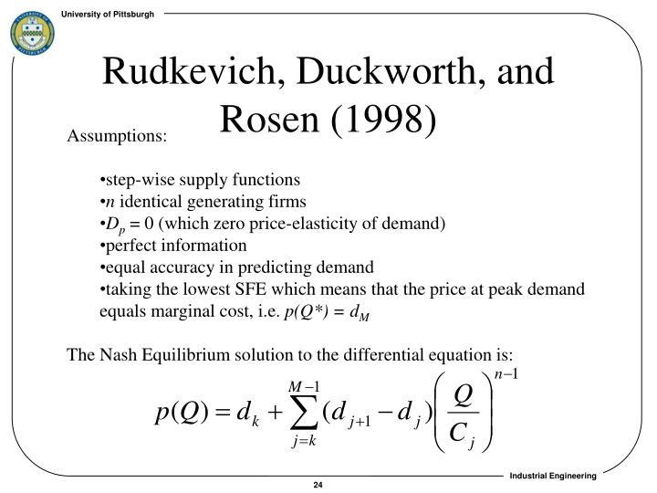 Rudkevich, Duckworth, and Rosen (1998)