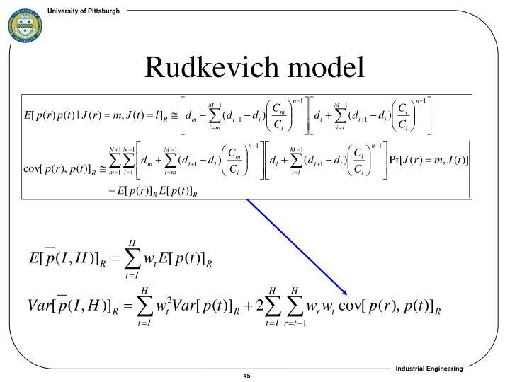 Rudkevich model