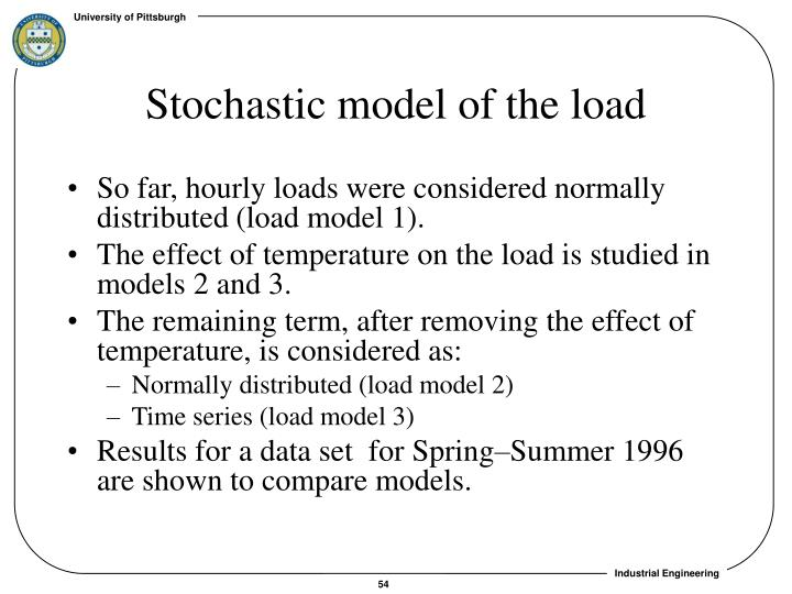 Stochastic model of the load