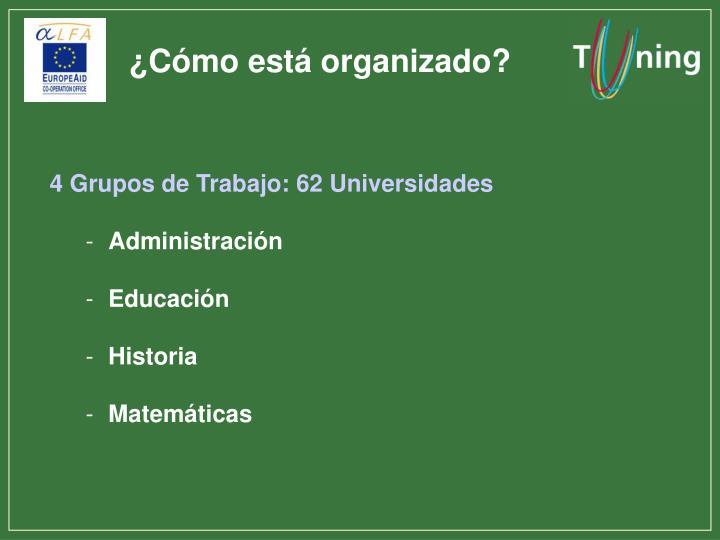 ¿Cómo está organizado?
