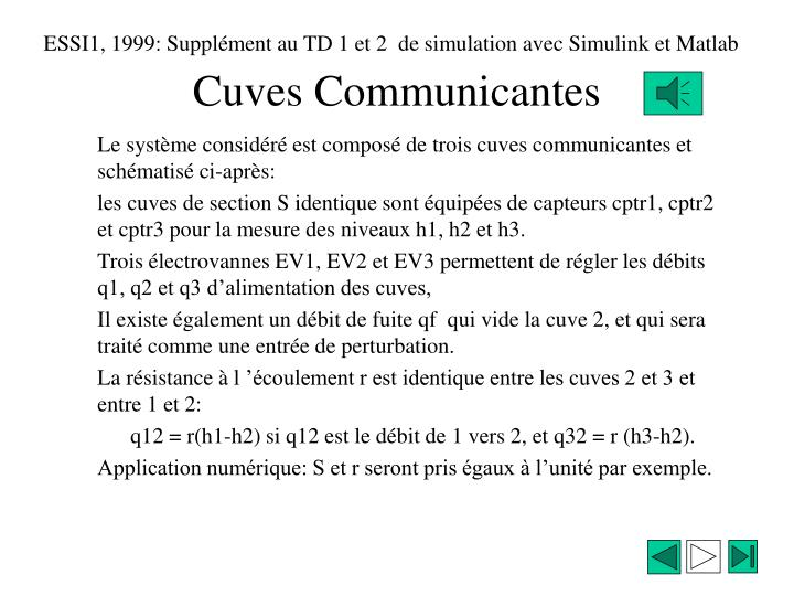Cuves communicantes