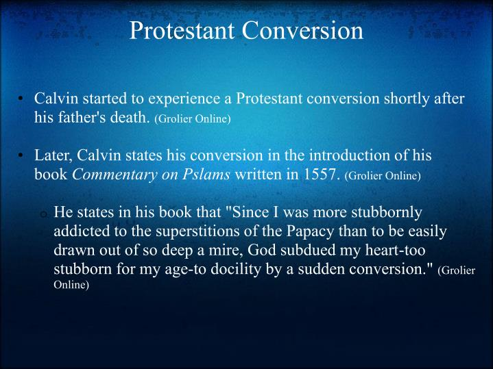 Protestant conversion