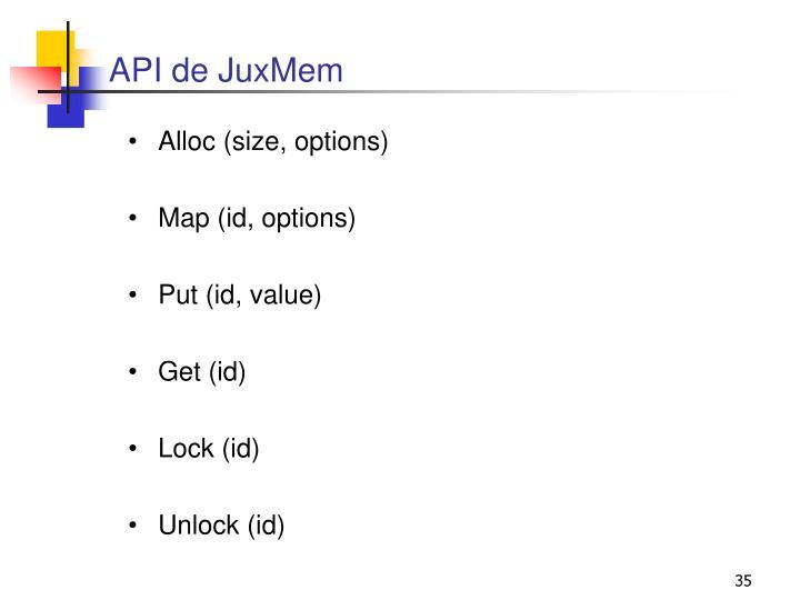 API de JuxMem