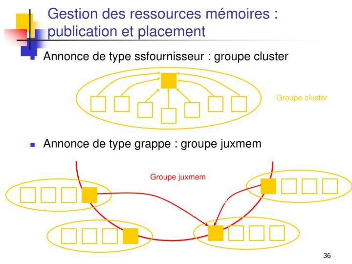 Gestion des ressources mémoires :