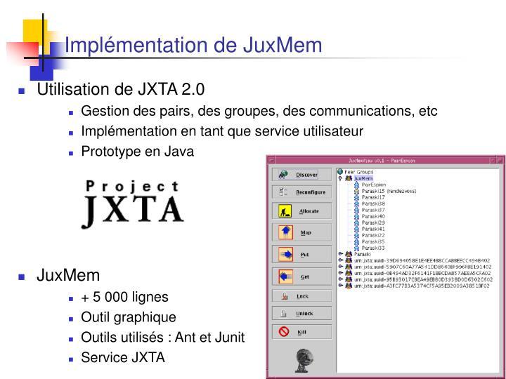 Implémentation de JuxMem