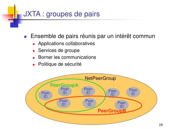 JXTA : groupes de pairs