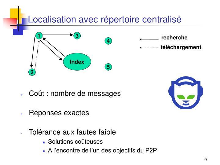Localisation avec répertoire centralisé