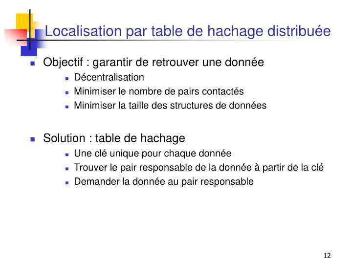 Localisation par table de hachage distribuée