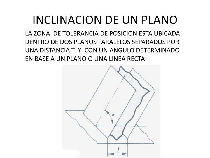 INCLINACION DE UN PLANO
