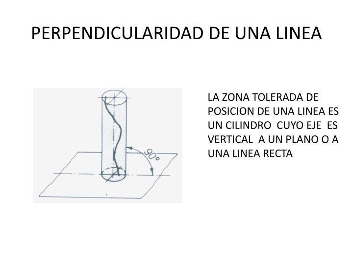 PERPENDICULARIDAD DE UNA LINEA