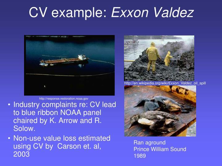 CV example: