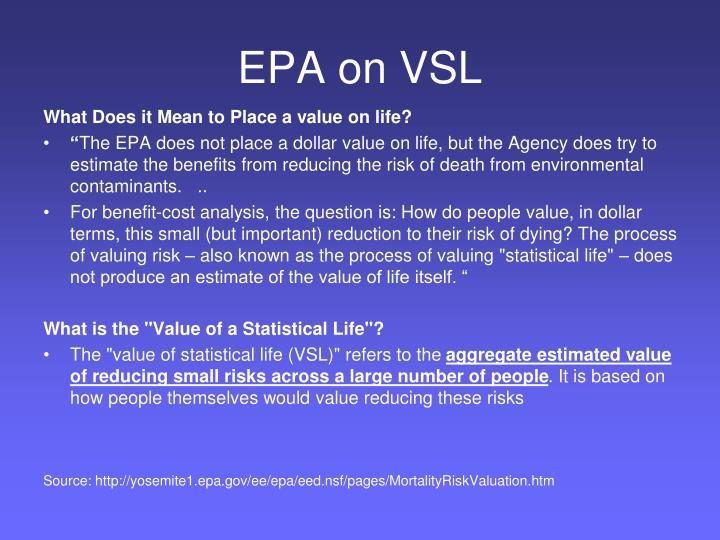 EPA on VSL
