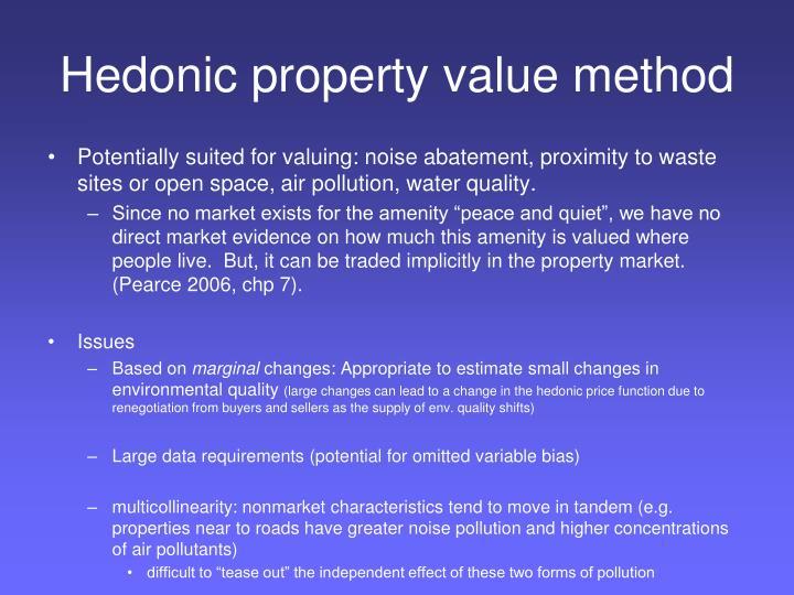 Hedonic property value method