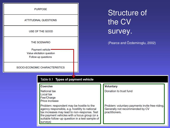 Structure of the CV survey.