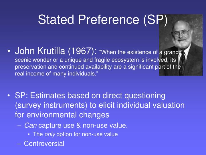 Stated Preference (SP)