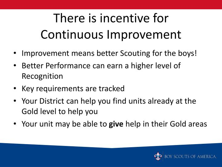 There is incentive for