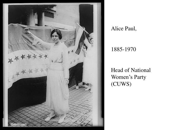 Alice Paul,