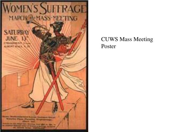 CUWS Mass Meeting