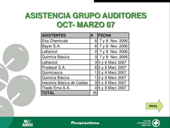 ASISTENCIA GRUPO AUDITORES
