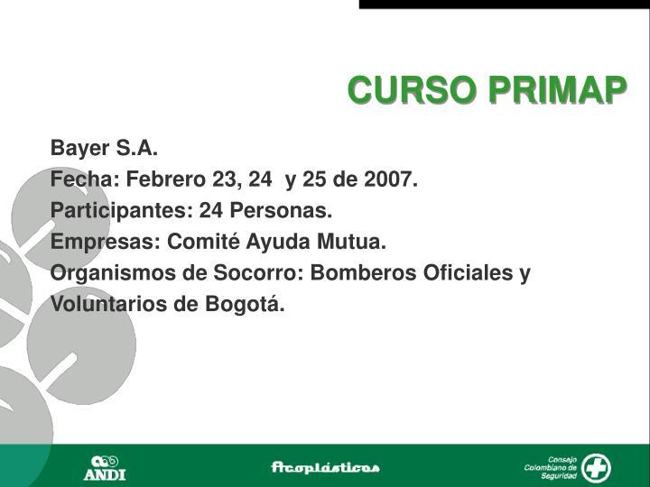 CURSO PRIMAP