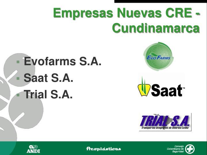 Empresas Nuevas CRE - Cundinamarca