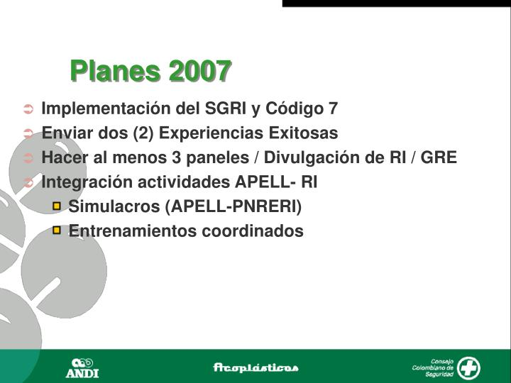 Planes 2007