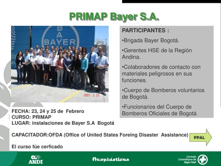 PRIMAP Bayer S.A.
