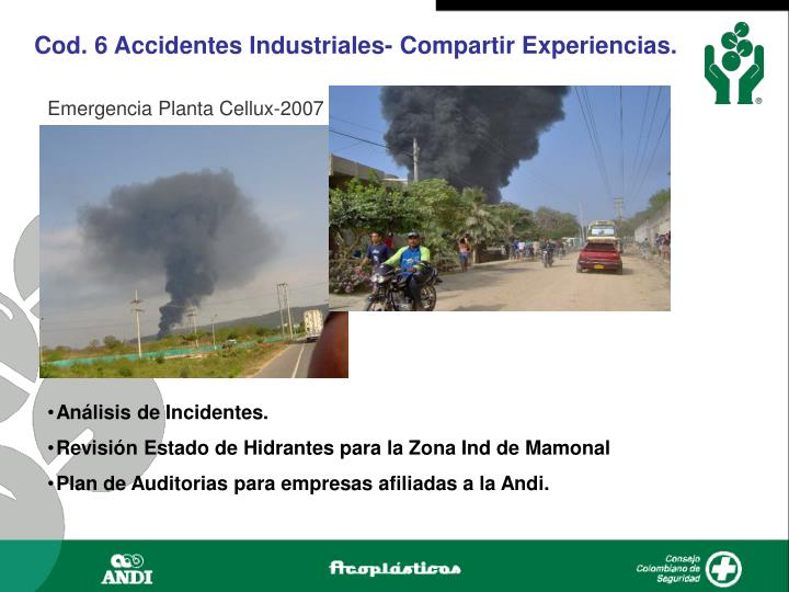 Cod. 6 Accidentes Industriales- Compartir Experiencias.