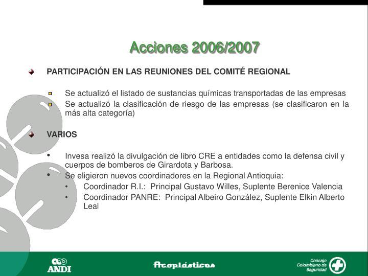 Acciones 2006/2007