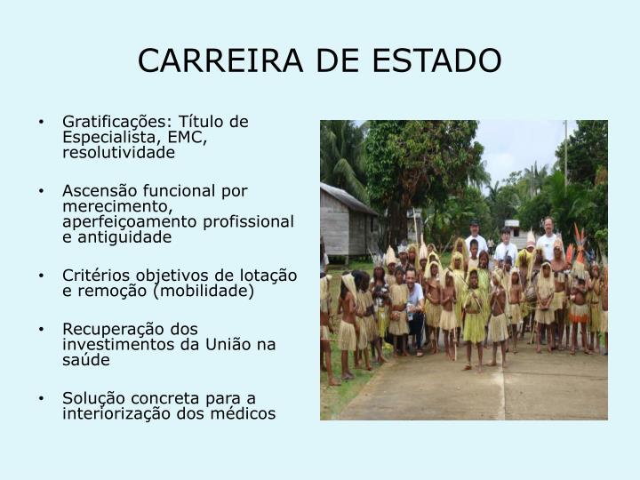 CARREIRA DE ESTADO