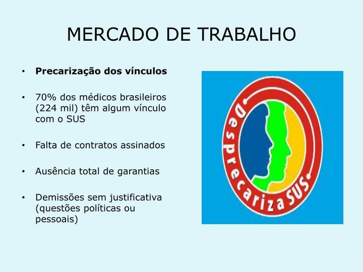 MERCADO DE TRABALHO