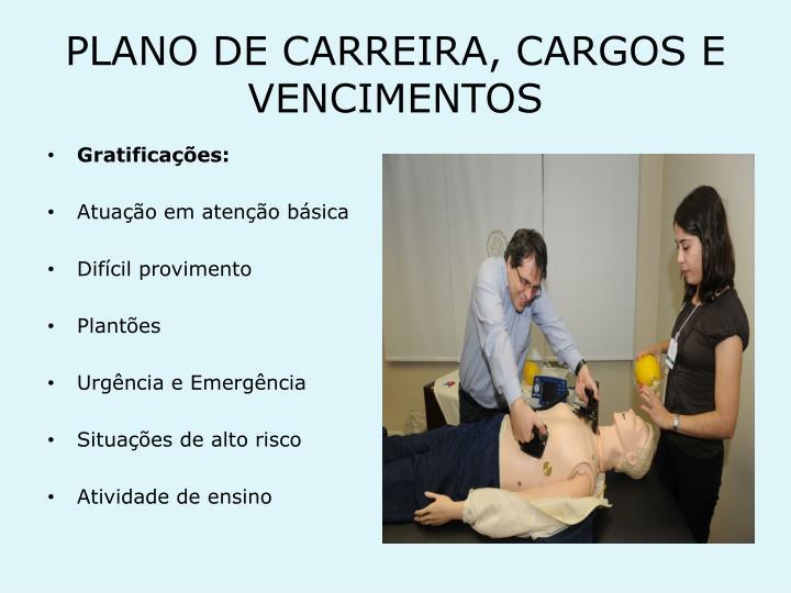 PLANO DE CARREIRA, CARGOS E VENCIMENTOS