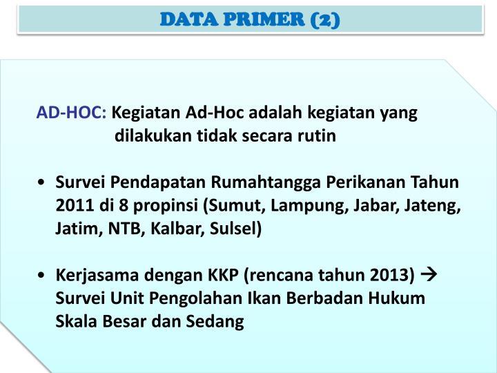 DATA PRIMER (2)