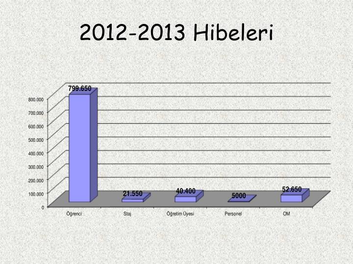 2012-2013 Hibeleri