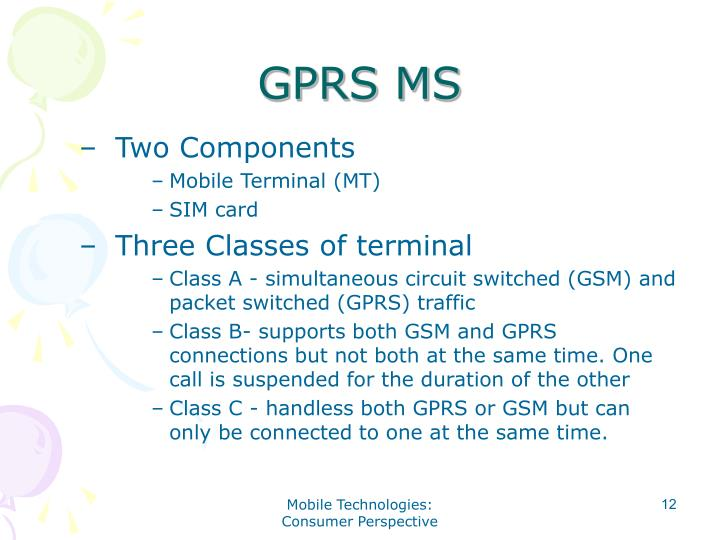 GPRS MS