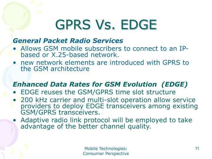 GPRS Vs. EDGE