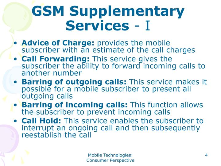 GSM Supplementary Services