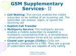 gsm supplementary services ii