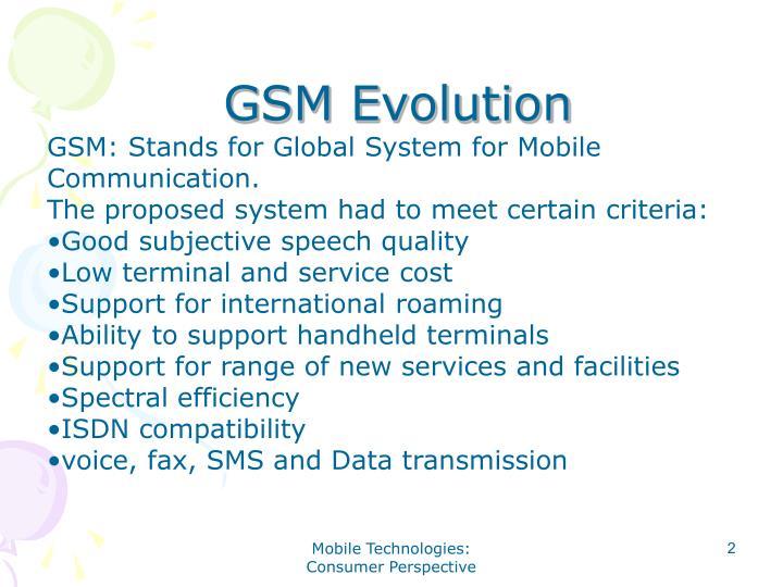 GSM Evolution