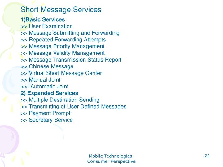 Short Message Services