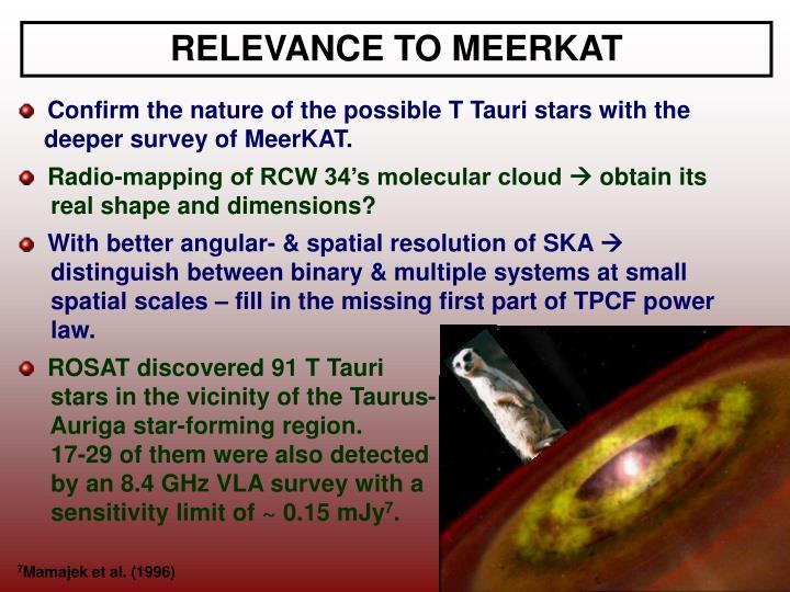 RELEVANCE TO MEERKAT