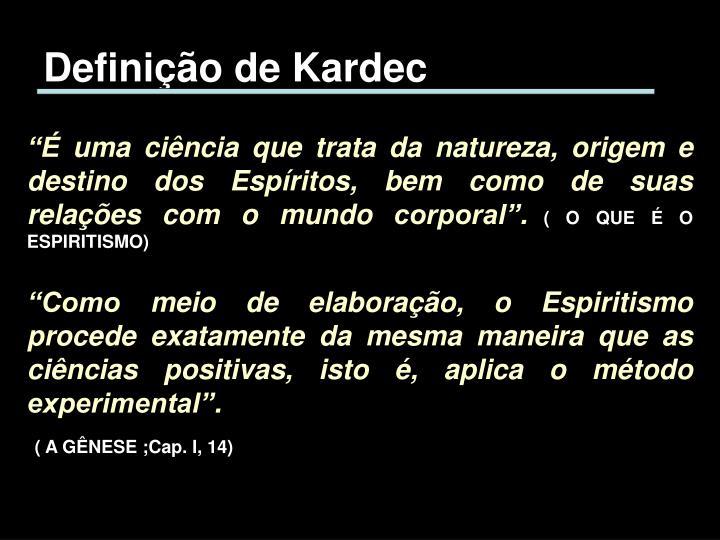 Definição de Kardec