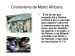 cristianismo de matriz africana