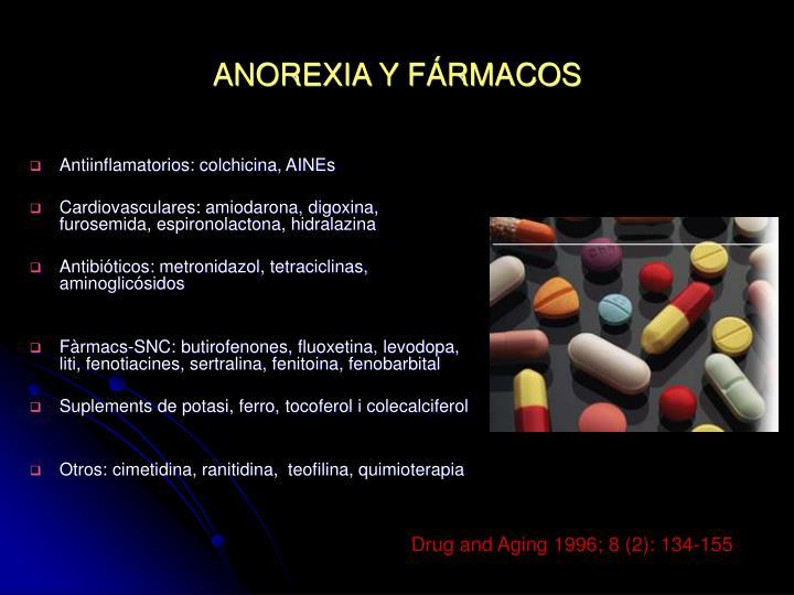 ANOREXIA Y FÁRMACOS
