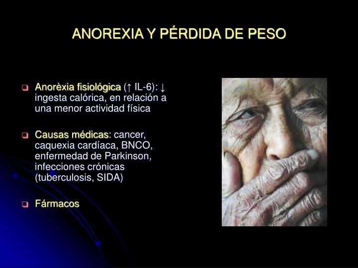 ANOREXIA Y PÉRDIDA DE PESO