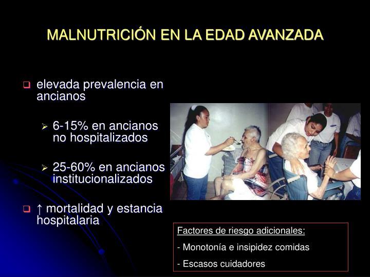 MALNUTRICIÓN EN LA EDAD AVANZADA