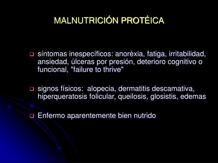 MALNUTRICIÓN PROT