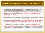 2 o ensinamento de jesus e dos ap stolos