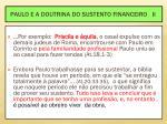 paulo e a doutrina do sustento financeiro ii