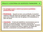 paulo e a doutrina do sustento financeiro iii